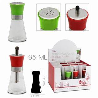 Especiero / azucarero mika 95 ml rojo - verde