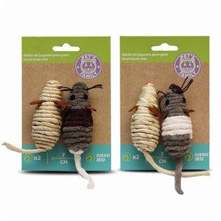 Raton de juguete para gatos 7 cm x 2