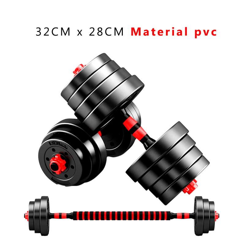 miniatura 23 - Juego de Mancuernas 2 en 1 con Barra Ajustable de 10 a 50 kg