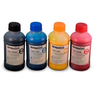 Tinta digital textil wcmyk 250ml tex para impresoras dtg