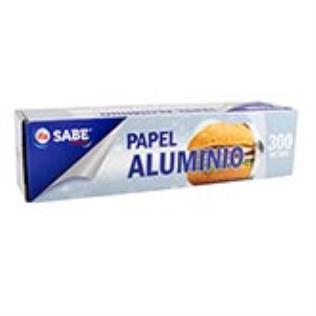 Papel aluminio plata sabe 50 mts