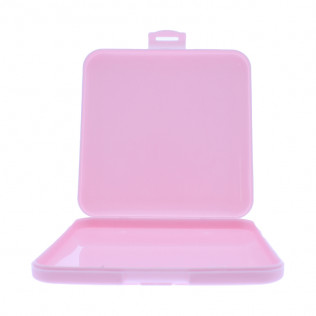 Caja portamascarillas 13x13 rosa
