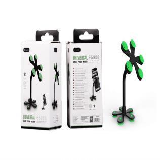 Soporte Universal de Movil con Ventosas de doble cara, Verde