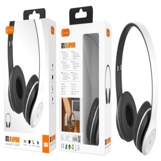 Auriculares Bluetooth con microfono y control de volumen , Blanco Negro