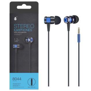 Auriculares metal con Microfono Azul