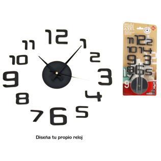 Reloj pared axel negro 50 x 50 - eva