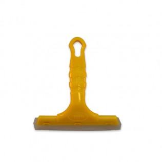 Escobilla de goma doble filo con mango de plastico para vinilo