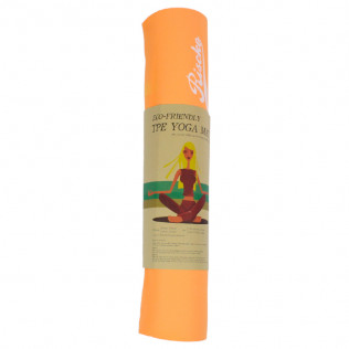 Esterilla antideslizante bicolor para Yoga Pilates Naranja