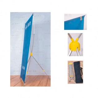 X-banner ajustable con barra 60x160 - 80x180 - 120x200 cm