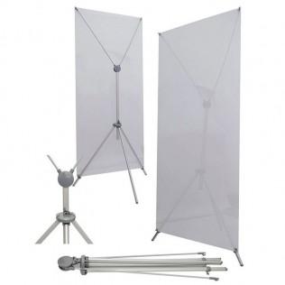 X-banner ajustable con barra 60x160 a 80x180 cm