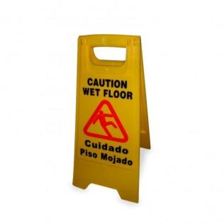 """Señal de advertencia """"cuidado piso mojado"""""""