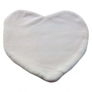 Cojín suave con forma de corazon 44x40cm para sublimación