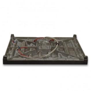 Plato con resistencia para plancha magnética semiautomática 50x40 cm