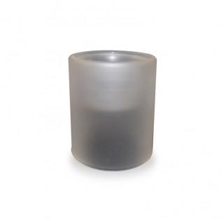 Portavelas de cristal opaco sublimación 7,5x9,5cm