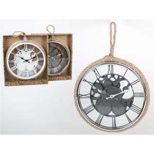 Reloj pared 30cm titán c/cuerda