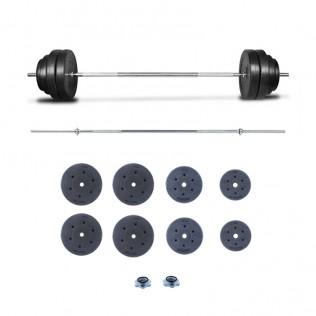 Juego de pesas 90 KG con barra recta | Set de Musculación