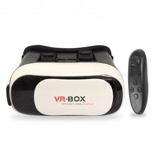 GAFAS DE REALIDAD VIRTUAL AJUSTABLES VR-BOX PARA MÓVILES CON MANDO