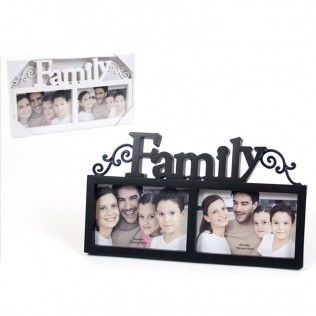 PORTAFOTOS DOBLE FAMILY 15X10
