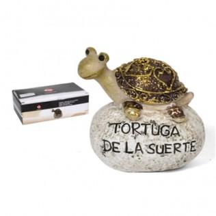 PIEDRA TORTUGA DE LA SUERTE 5.5CM RESINA