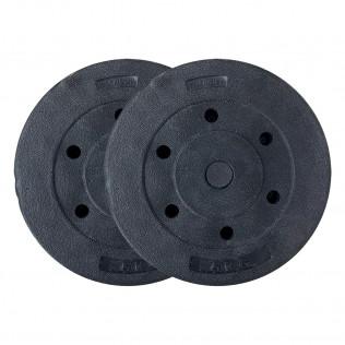 Pack de 2 discos para barra de entre 1 y 15 kg.