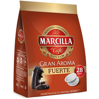 CAFE MONODOSIS MARCILLA SENSEO GRAN AROMA FUERTE PACK 5
