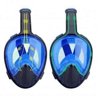 Máscara de buceo 180º XY-001 negra azul