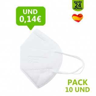 MASCARILLA FFP2 BLANCA OUT - PACK 10 UNDS.