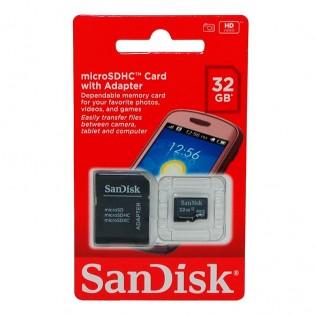Sandisk micro sd con adaptador sd