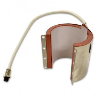 Molde de resistencia para tazas rectas 6 a 10 oz con chapa plancha transfer ampliable 38x38 cm pt-3838