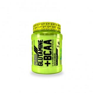 L-glutamina + aminoácidos ratio 4:1:1 500gr pure glutamine + bcaa's 3xl