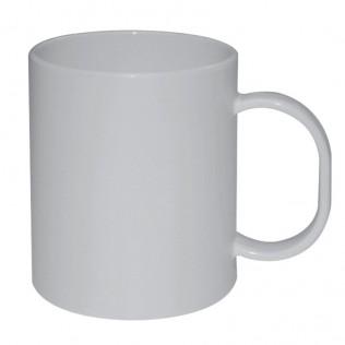 Taza blanca de plástico para sublimación
