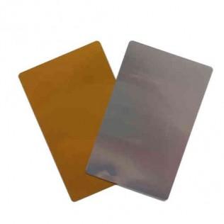 Tarjeta de aluminio para sublimación color oro 100 ud.
