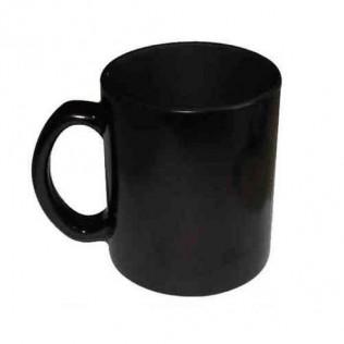Taza mágica cerámica color negro interior negro para sublimación