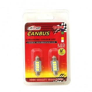 PACK 2 BOMBILLAS DE COCHE CANBUS LED 12 V MOD 28726