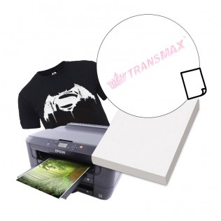 Papel transfer tinta pigmentada algodón prenda oscura a3