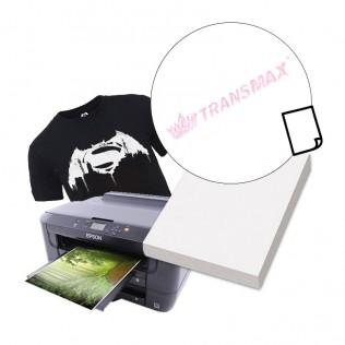 Papel transfer tinta pigmentada algodón prenda oscura a4
