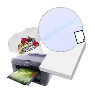 Papel transfer tinta pigmentada algodón prenda clara a4