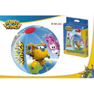 PELOTA PLAYA 40cm SUPER WINGS
