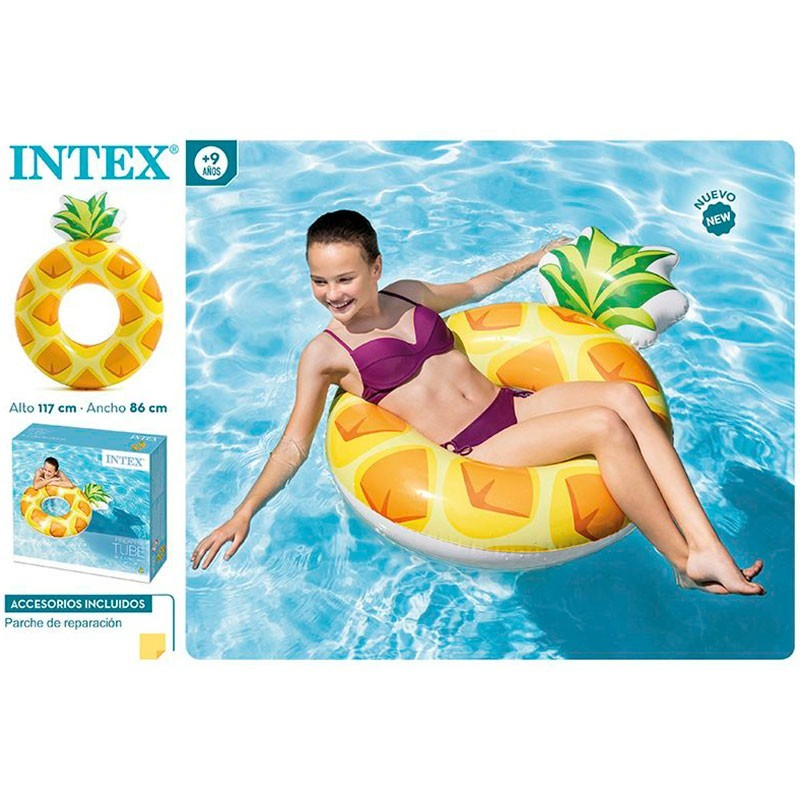 8be6308d Flotador aro piña 117 x 86 cm intex