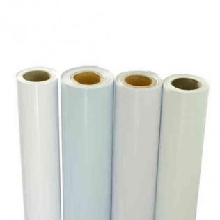 Bobina vinilo monomérico blanco 140g impresión 50 mtrs