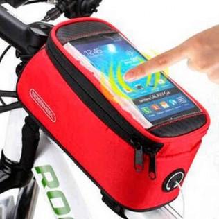 Bolsa bicicleta cuadro pantalla táctil bb003