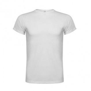 Camiseta roly sublimación tacto algodón blanca