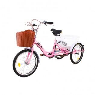 Triciclo adulto con dos cestas bep-14