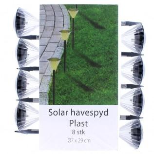 PACK 8 UNDS. LUZ LED SOLAR  JARDÍN  XLTD-1505
