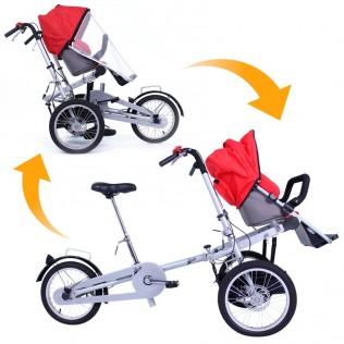 Bicicleta carrito bebé