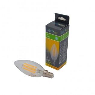 BOMBILLA LED VELA FILAMENTO 4W E14 3000K