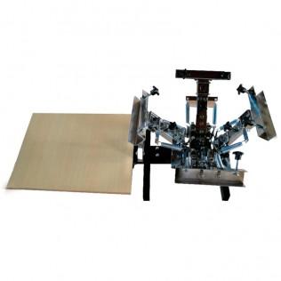 Máquina serigrafía portátil pulpo 4 brazos 1 estación con microregistro