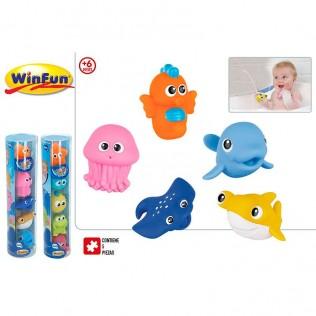 SET 5 ANIMALES PVC BAÑO 6M+ 2/S (WINFUN)