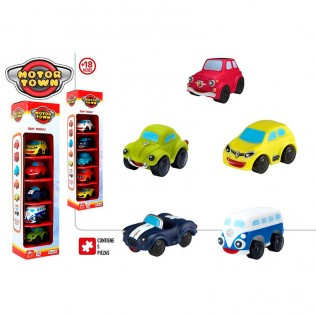 MOTOR TOWN -PACK 5 VEHICULOS BLANDITOS SURTIDOS +18M 2/S