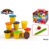 Pack 10 botes 90 ml plastilina - cra-z-art softeedough
